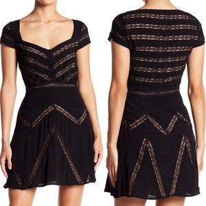 NWT Free People Black Lace Elle Dress